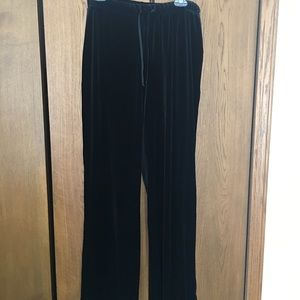 Black Velvet (faux) Pants